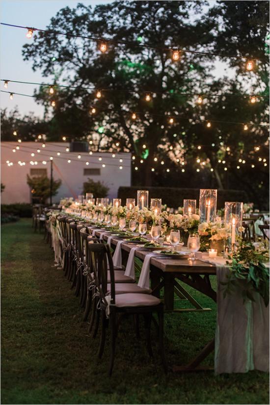 Outdoor Wedding Lights Love Station Design